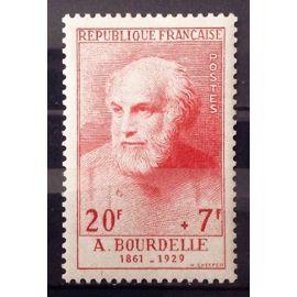 Célébrités XIII au XXème Siècle - Bourdelle 20f+7f Rouge (Superbe n° 992) Neuf* - Cote 22,00€ - France Année 1954 - N25578
