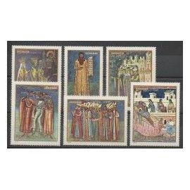 Roumanie 1970 - Peintures - 6 valeurs neuves + 1 bloc feuillet neuf