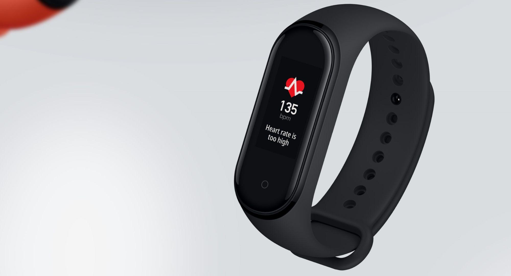 Xiaomi Mi Smart Band 4 - Suivi d'activités avec bande - TPU - noir - taille de bande 155-216 mm - affichage 0.95 image 4   Rakuten