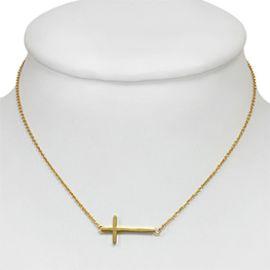 collier croix horizontale femme