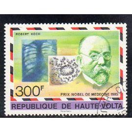 Timbre-poste de Haute-Volta (Prix Nobel de médecine)