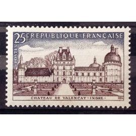 Château de Valençay 25f (Impeccable n° 1128) Neuf** Luxe (= Sans Trace de Charnière) - France Année 1957 - N19041