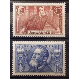 Série Jean Jaurès - N° 318-319 Neufs* Complète à Petit Prix - Cote 19,00€ - France Année 1936 - N24345