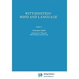 Wittgenstein: Mind and Language - R. Egidi
