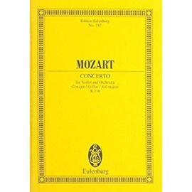 Concert 03 G Kv216 / Conducteur de poche - Wolfgang Amadeus Mozart