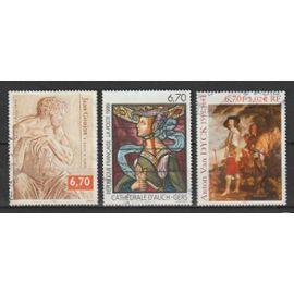 france, 1999, série artistique (jean goujon, vitrail de la cathédrale d