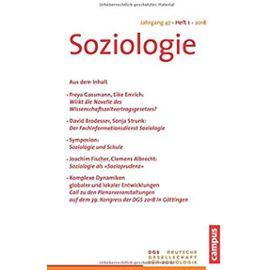 Soziologie Jg. 47 (2018) 1 - Sina Farzin