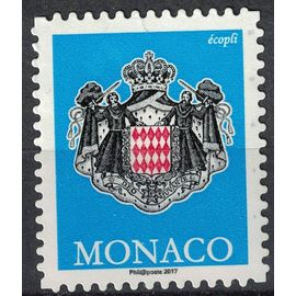 Monaco 2017 Used Coat of Armes Blason Armoiries bleu SU