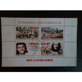 timbre CUBA M I BL 230 Che Guevara dans son Combat 40th Anniversary M / S 2007 ( 14812 )