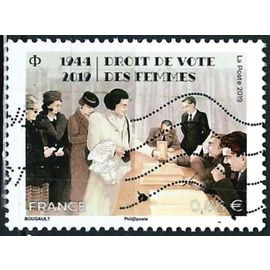 france 2019, bel exemplaire yvert 5315, commémoration du droit de vote accordé aux femmes en 1944, oblitéré, TBE