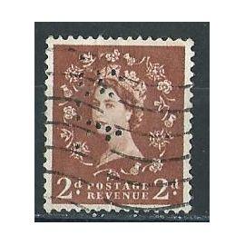 Reine Elizabeth 2 année 1958 n° 329 perforé avec charnière (voir scans)