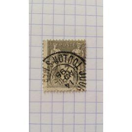 Lot n°108 ■ timbre oblitéré france classique n ° 87 ---- 3c gris