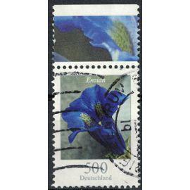 Allemagne 2005 Oblitéré Used Flower Enzian Gentiane de Koch bord de feuille