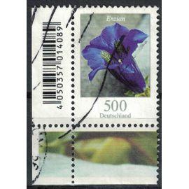 Allemagne 2005 Oblitéré Used Flower Enzian Gentiane de Koch coin de feuille
