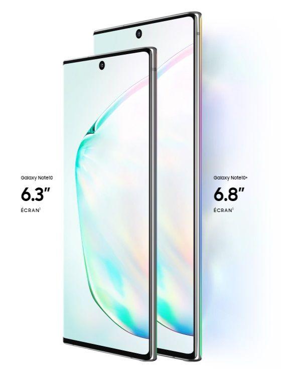 Samsung Galaxy Note10+ 256 Go Double SIM Aura glow image 3 | Rakuten