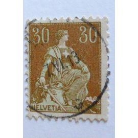 Timbres Suisses Helvétia assise avec épée 30/50