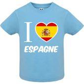 Mygoodprice Body b/éb/é 100/% Coton Drapeau I Love Espagne