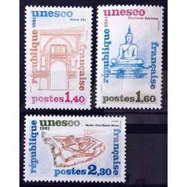 Série Unesco Patrimoine Universel 1981 - N° 68 69 70 Neufs** Luxe (= Sans Trace de Charnière) - France Année 1981 - N11073