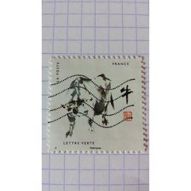 Lot n°127 ■ timbre oblitéré france autoadhésif n ° 1375 ---- lettre verte