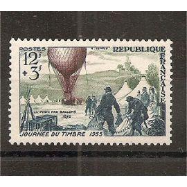 1018 (1955) Journée du Timbre N* (cote 3,6e) (5176)