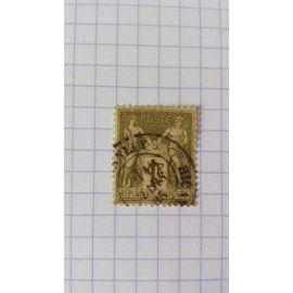 Lot n°140■ timbre oblitéré france classique n ° 82 ---- 1fr. Olive clair