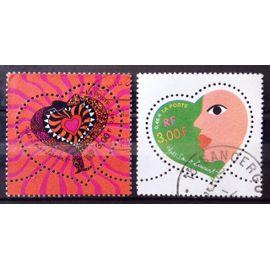 Série Coeurs Yves-Saint-Laurent 2000 - N° 3295 3296 Obl - France Année 2000 - N25782
