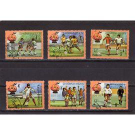 Timbres-poste du Laos (Coupe du monde de football Espana82)