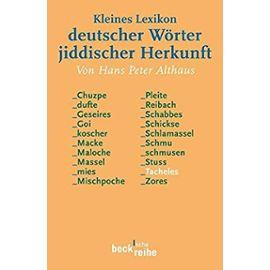 Althaus: Lexikon dtsch./jiddisch