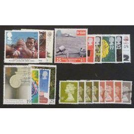 royaume-uni oblitéré lot de 21 timbres de 1995