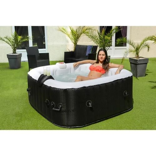 Sun Spa Spa Gonflable Carre Laminee 4 Personnes 1 55 X H 0 65 M Sunspa