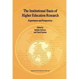 The Institutional Basis of Higher Education Research - Stefanie Schwarz