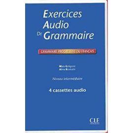 Grammaire Progressive Du Francais: Exercices Audio Coffret Cassettes Intermediaire - Unknown