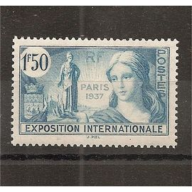 336 (1937) Exposition Internationale N* (cote 2,75e) (5106)