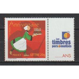 """France, 2005, Timbres Personnalisés, Timbre Pour Anniversaires (Bande Dessinée, Bécassine), N°3778a (Vignette """"les timbres personnalisés""""), Neuf."""