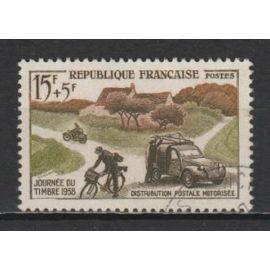 france, 1958, journée du timbre, n°1151, oblitéré.