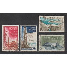 france, 1959, réalisations techniques (2), série n°1203 à 1206, oblitérés.