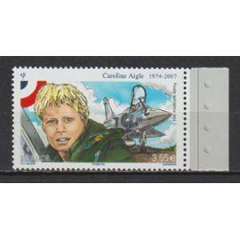 france, 2014, poste aérienne, personnalité (caroline aigle), n°78 (avec bord de feuille illustré), neuf.