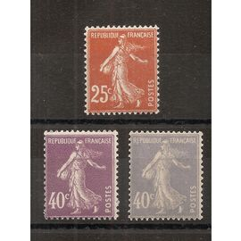 235 - 236 - 237 (1927) Semeuses fond plein N** (cote 7,2e) (6585)