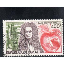 Timbre de poste aérienne du Mali (250ème anniversaire de la mort d'Isaac Newton)