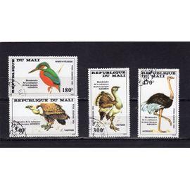 Timbres de poste aérienne du Mali (Bicentenaire de la naissance de la naissance de l'ornithologue J.J. Audubon)