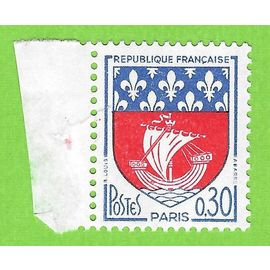 FRANCE 1965 N° 1354B Blason de Paris Variété NEF TROUEE. NEUF