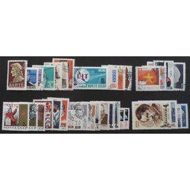 russie oblitéré y et t n° 2909 et plus lot de 35 timbres de 1965