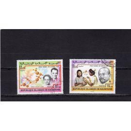Timbres-poste de Mauritanie (Prix Nobel)
