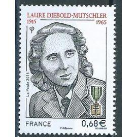 Laure Diebold Mutschler, Résistante, secrétaire de Jean Moulin 2015 n° 4985 neuf**