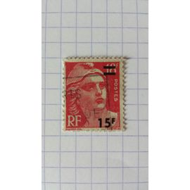Lot n°246 timbre oblitéré france n ° 968 ---- 15f sur 18f rose-carmin