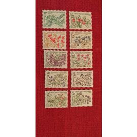 Lot 10 timbres taxe Andorre 1985
