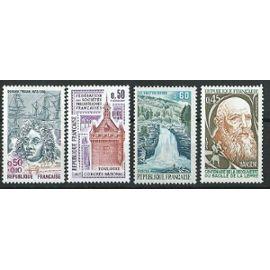 Lot de 4 timbres France Année 1973 neuf** N° 1748, 1763, 1764, 1767.