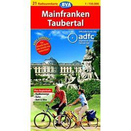 Mainfranken, Taubertal Cycling Map (Germany Cycling Route Map Series, 21) - Allgemeiner Deutscher Fahrrad-Club