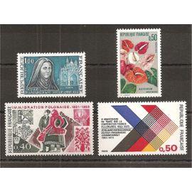 1737 à 1740 (1973) Série de Timbres neufs N** (cote 2,1e) (4630)