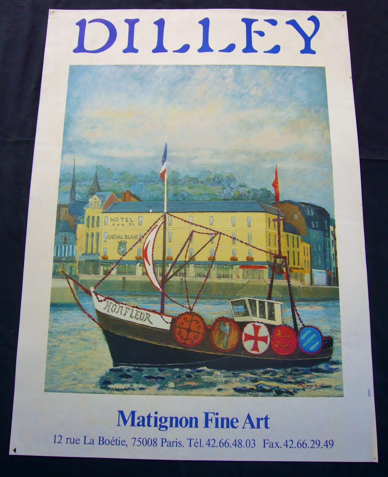 Affiche Dilley Galerie Matignon Fine Art 70 X 50 Cm Honfleur Hotel Du Cheval Blanc Rakuten
